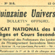 La Quinzaine Universitaire , 15 Octobre (...)